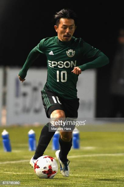 Kohei Kudo of Matsumoto Yamaga in action during the JLeague J2 match between Matsumoto Yamaga and Kamatamare Sanuki at Matsumotodaira Park Stadium on...