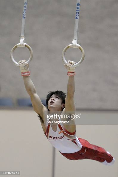 Kohei Uchimura of Japan competes on the Rings during day two of the 66th All Japan Artistic Gymnastics All Around Championships at Yoyogi National...