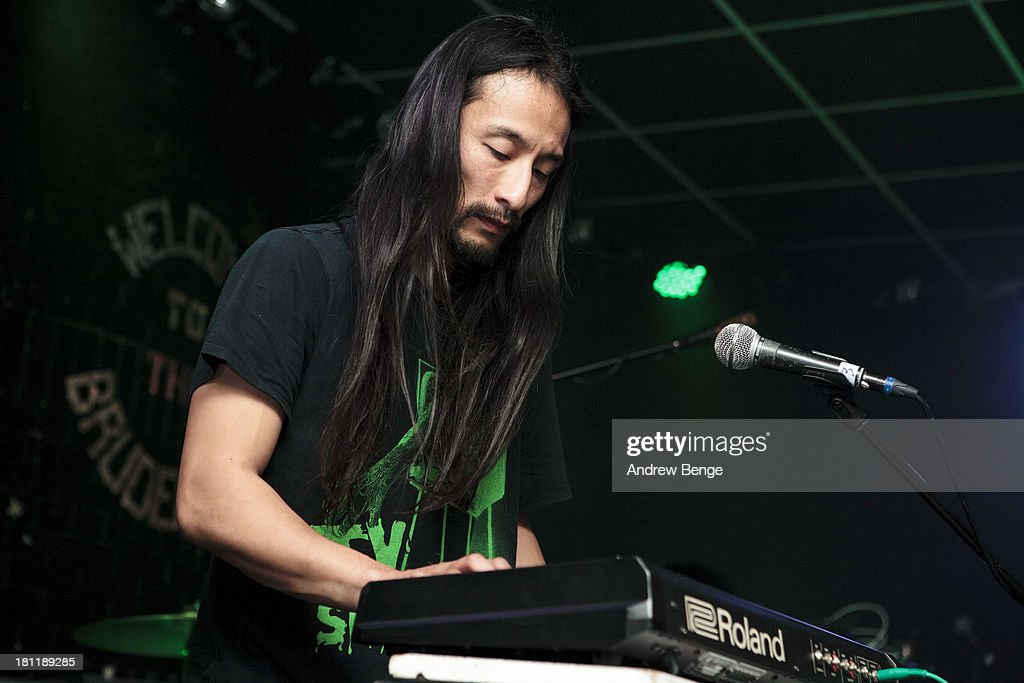 Kohhei of Xaviers performs on stage at Brudenell Social Club on September 19, 2013 in Leeds, England.