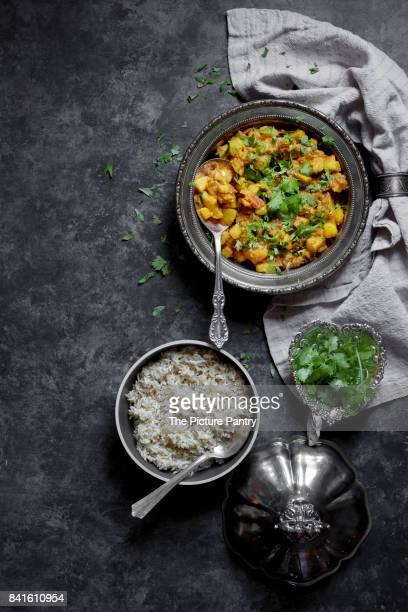 Kohlrabi and Potato Curry