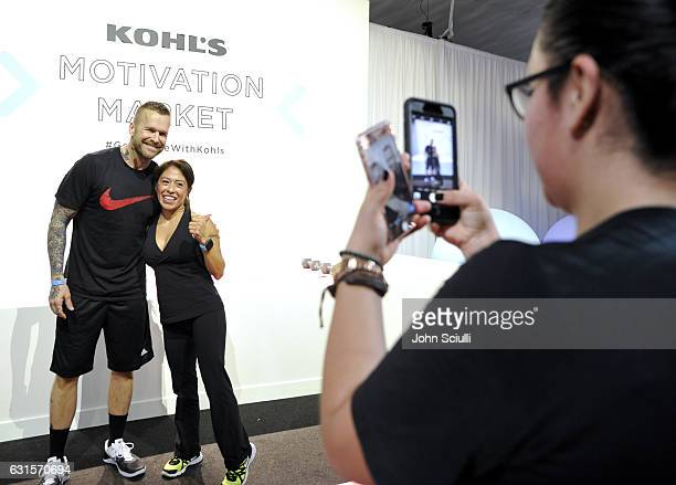Kohl's Wellness Ambassador Bob Harper and guest attend the Kohl's Motivation Market on January 12 2017 in Los Angeles California