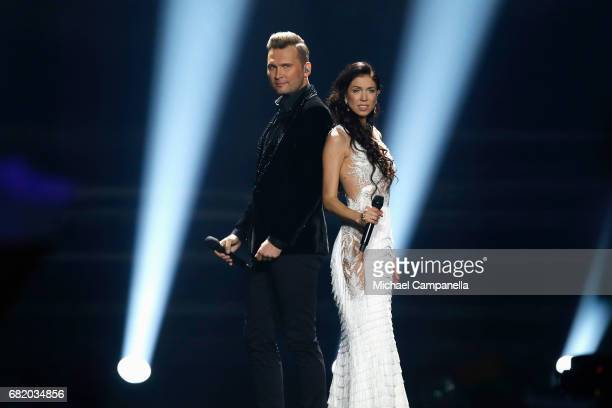 Koit Toome Laura representing Estonia perform the song 'Verona'during the second semi final of the 62nd Eurovision Song Contest at International...