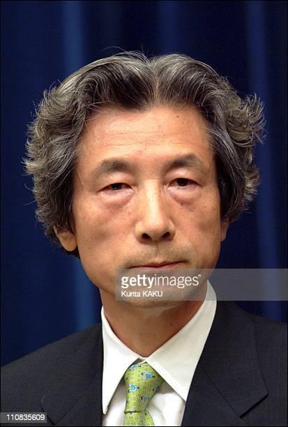 Koizumi New Cabinet At Prime Minister Official Residence In Tokyo Japan On September 30 2002 Koizumi New Cabinet at Prime Minister Official residence