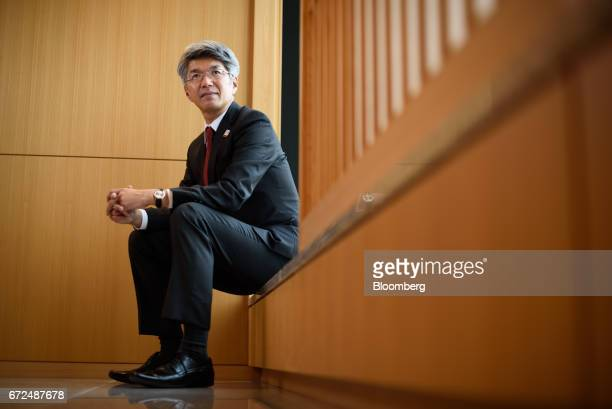 Koji Fujiwara president and chief executive officer of Mizuho Bank Ltd poses for a photograph in Tokyo Japan on Tuesday April 18 2017 Mizuho...