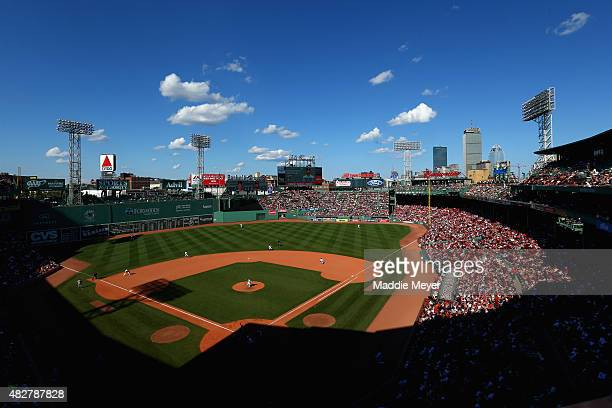 Koji Uehara of the Boston Red Sox pitches against the Tampa Bay Rays during the ninth inning at Fenway Park on August 2 2015 in Boston Massachusetts...
