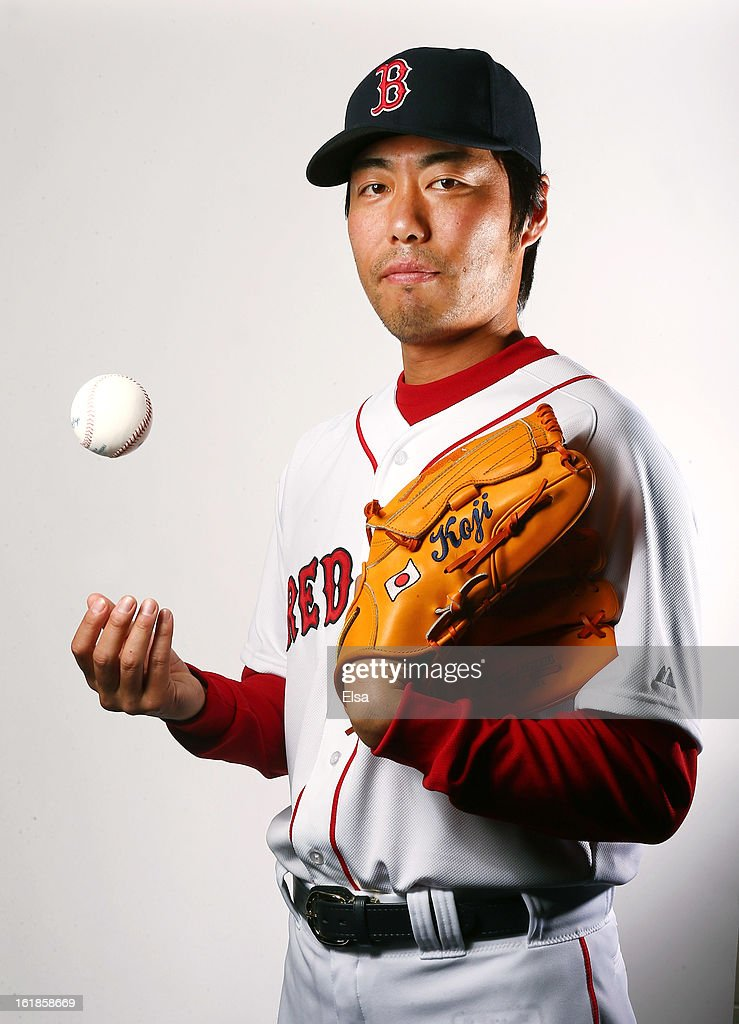 <a gi-track='captionPersonalityLinkClicked' href=/galleries/search?phrase=Koji+Uehara&family=editorial&specificpeople=801278 ng-click='$event.stopPropagation()'>Koji Uehara</a> #19 of the Boston Red Sox poses for a portrait on February 17, 2013 at JetBlue Park at Fenway South in Fort Myers, Florida.