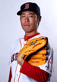 Koji Uehara of the Boston Red Sox poses for a portrait on March 1 2015 at JetBlue Park in Fort Myers Florida