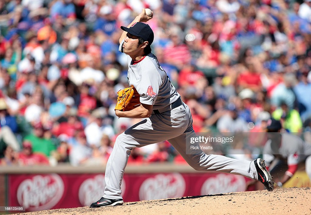 <a gi-track='captionPersonalityLinkClicked' href=/galleries/search?phrase=Koji+Uehara&family=editorial&specificpeople=801278 ng-click='$event.stopPropagation()'>Koji Uehara</a> #19 of the Boston Red Sox throws in the seventh inning against the Texas Rangers at Rangers Ballpark in Arlington on May 5, 2013 in Arlington, Texas.