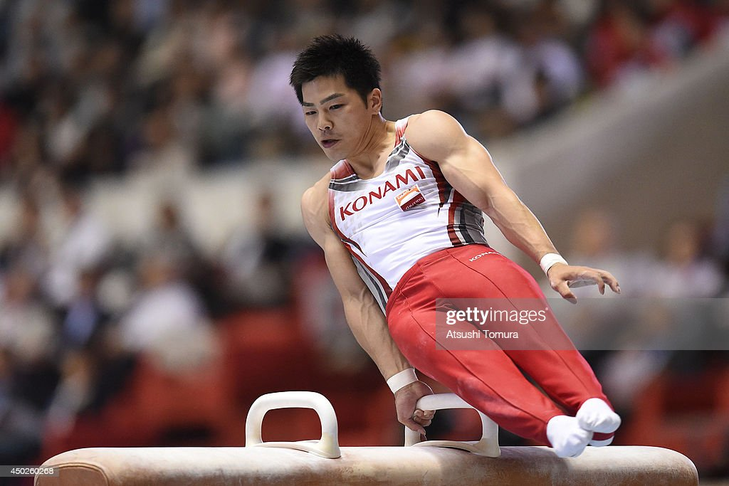 <a gi-track='captionPersonalityLinkClicked' href=/galleries/search?phrase=Koji+Yamamuro&family=editorial&specificpeople=5608587 ng-click='$event.stopPropagation()'>Koji Yamamuro</a> of Japan competes on the Pommel Horse during day two of the Artistic Gymnastics NHK Trophy at Yoyogi National Gymnasium on June 8, 2014 in Tokyo, Japan.