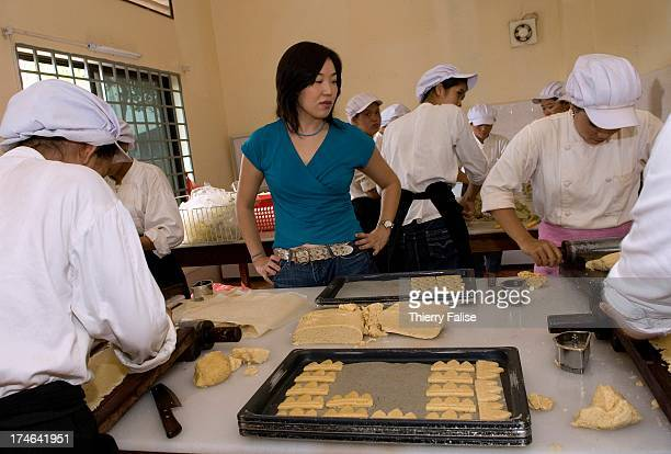 Kojima Sachiko president of Khmer Angkor Foods company at her company's bakery During the high touristic season the bakery has a daily production of...