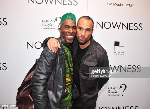 Kojo and Roger Guenver Smith attend NOWNESS Presents the New York Premiere of JeanMichel Basquiat The Radiant Child at MoMa on April 27 2010 in New...