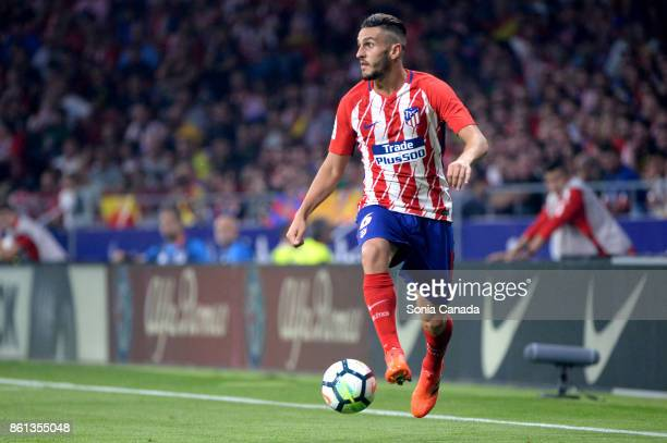 Koke #6 of Atletico de Madrid during The La Liga match between Club Atletico de Madrid and FC Barcelona at Wanda Metropolitano on October 14 2017 in...
