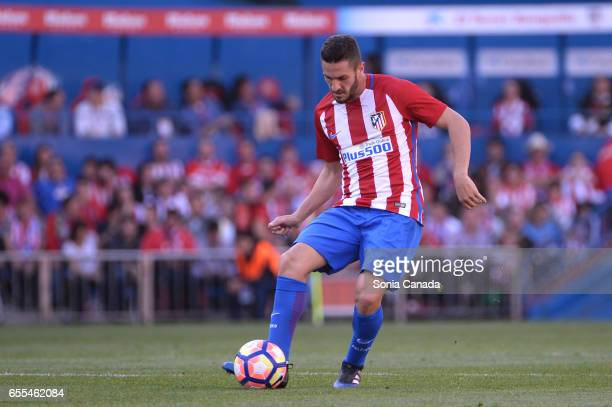 Koke #6 of Atletico de Madrid during The La Liga match between Atletico Madrid v Valencia FC at Vicente Calderon on March 19 2017 in Madrid Spain