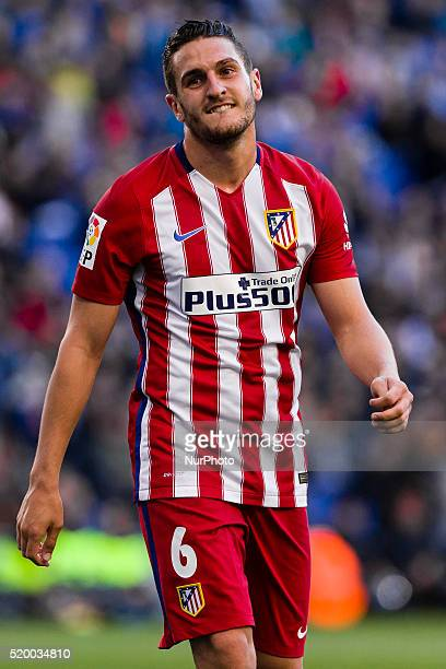 Koke during the match between RCD Espanyol v Atletico de Madrid for the round 32 of the Liga BBVA played at RCD Espanyol Stadium on 9th Apr 2016 in...