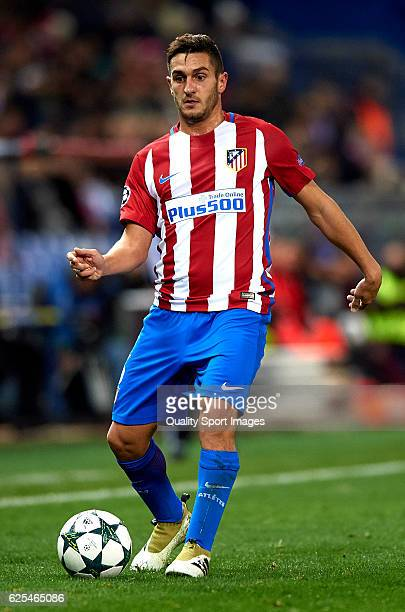Koke of Atletico de Madrid in action during the UEFA Champions League Group D match between Club Atletico de Madrid and PSV Eindhoven at Vicente...