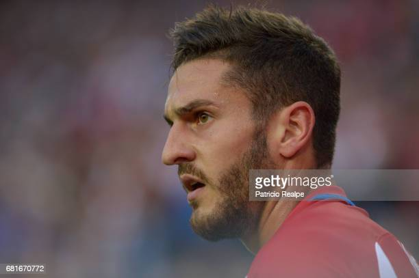 Koke of Atletico de Madrid looks on during the match between Club Atletico de Madrid and Real Madrid CF as part of UEFA Champions League Semi Final...