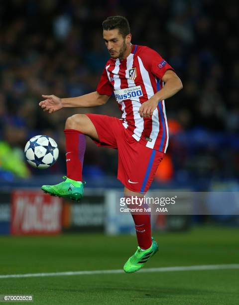 Koke of Atletico Madrid during the UEFA Champions League Quarter Final second leg match between Leicester City and Club Atletico de Madrid at The...