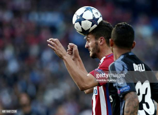 Koke of Atletico Madrid in action against Danilo of Real Madrid during the UEFA Champions League semi final second leg match between Atletico Madrid...
