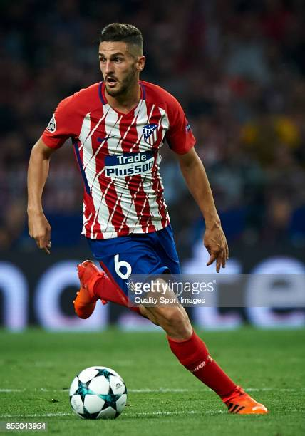 Koke of Atletico Madrid in action during the UEFA Champions League group C match between Atletico Madrid and Chelsea FC at Wanda Metropolitano...