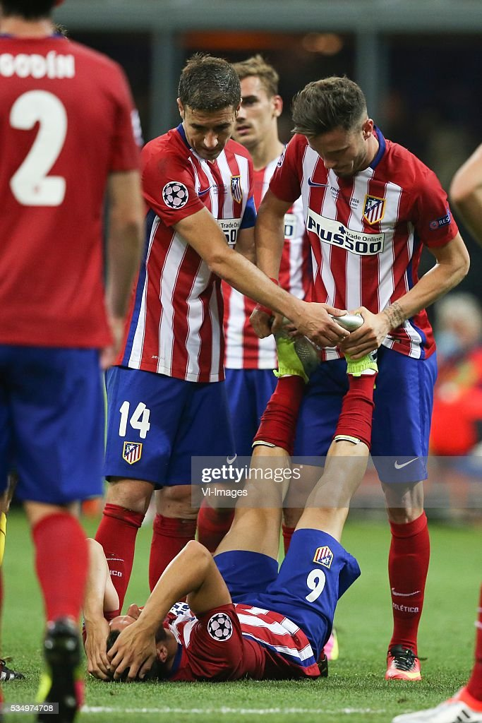 Koke of Club Atletico de Madrid during the UEFA Champions League final match between Real Madrid and Atletico Madrid on May 28, 2016 at the Giuseppe Meazza San Siro stadium in Milan, Italy.
