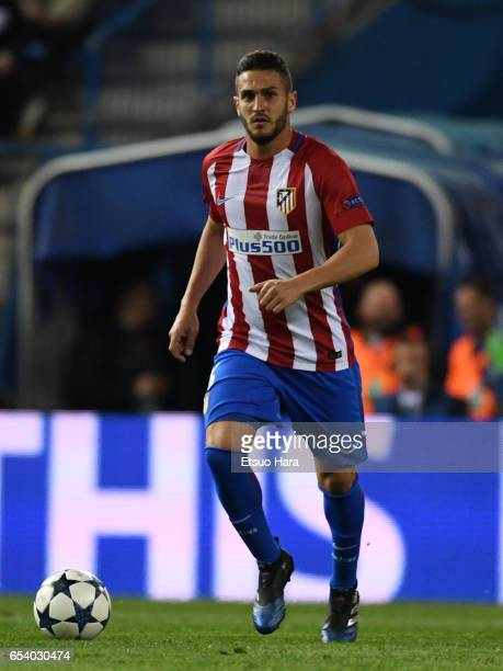 Koke of Club Atletico de Madrid in action during the UEFA Champions League Round of 16 second leg match between Club Atletico de Madrid and Bayer...