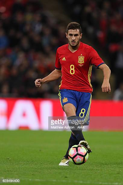 Koke of Spain during the International Friendly between England and Spain at Wembley Stadium on November 15 2016 in London England
