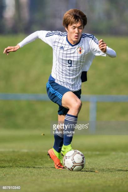 Koki Ogawa of Japan in action during a Friendly Match between MSV Duisburg and the U20 Japan on March 26 2017 in Duisburg Germany