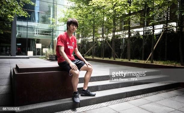 Koki Ogawa of Japan poses for a picture during the FIFA U20 World Cup Korea Republic at Ramada Hotel on May 23 2017 in Suwon South Korea