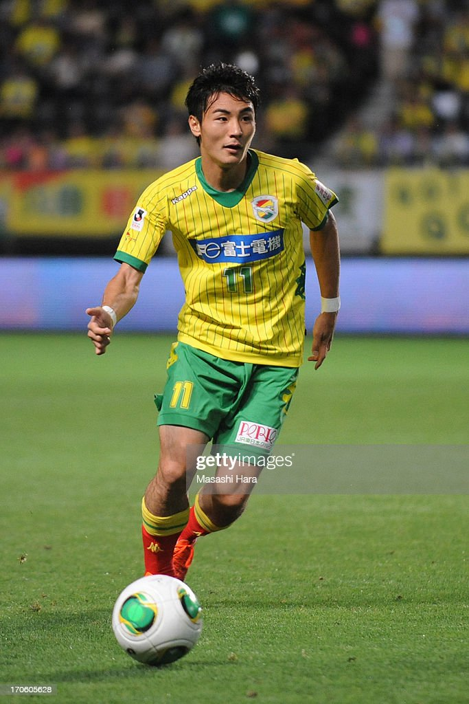 <a gi-track='captionPersonalityLinkClicked' href=/galleries/search?phrase=Koki+Yonekura&family=editorial&specificpeople=7719858 ng-click='$event.stopPropagation()'>Koki Yonekura</a> #11 of JEF United Chiba in action during the J.League second division match between JEF United Chiba and Yokohama FC at Fukuda Denshi Arena on June 15, 2013 in Chiba, Japan.