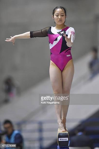 Koko Tsurumi competes in the Balance Beam during day three of the All Japan Artistic Gymnastics Individual All Around Championships at Yoyogi...