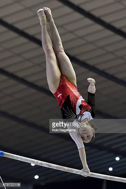 Koko Tsurumi competes on the Uneven Bars during the Artistic Gymnastics NHK Trophy at Yoyogi National Gymnasium on May 17 2015 in Tokyo Japan