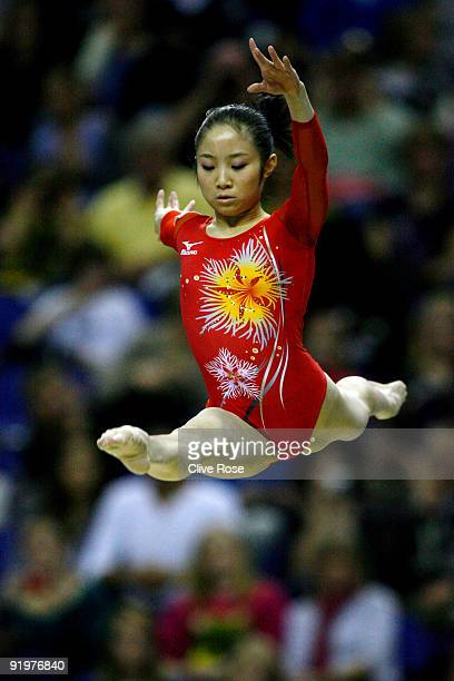 Koko Tsurumi of Japan competes in the beam event during the Apparatus Finals on the sixth day of the Artistic Gymnastics World Championships 2009 at...