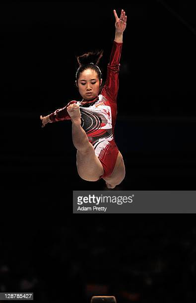 Koko Tsurumi of Japan competes on the Beam aparatus in the Women's qualification during day two of the Artistic Gymnastics World Championships Tokyo...