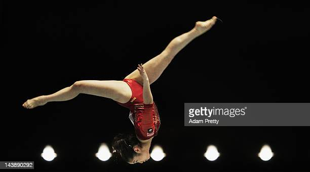 Koko Tsurumi of Japan performs her balance beam routine during day two of the Artistic Gymnastics NHK Trophy at Yoyogi National Gymnasium on May 5...