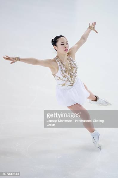 Kokoro Iwamoto of Japan competes during the Junior Ladies Free Skating on day three of the ISU Junior Grand Prix of Figure Skating on September 17...