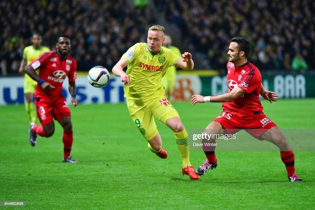 Kolbeinn SIGTHORSSON / Jeremy MOREL - - Nantes / Lyon - 16eme journee de Ligue 1, Photo: Dave Winter / Icon Sport