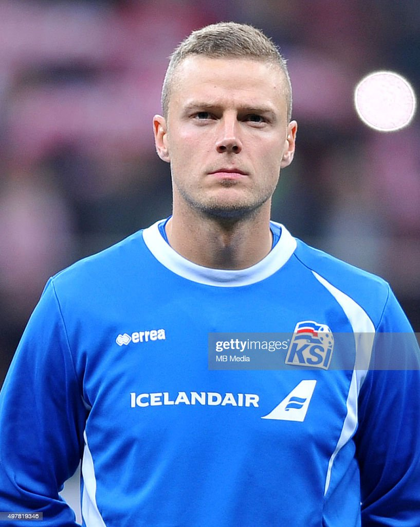 Kolbeinn Sigthorsson of Iceland looks on before the international friendly match against Poland on November 13, 2015 in Warsaw,Poland.