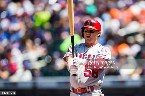 Kole Calhoun of the Los Angeles Angels looks on during the game New York Mets at Citi Field on May 21 2017 in the Queens borough of New York City 'n