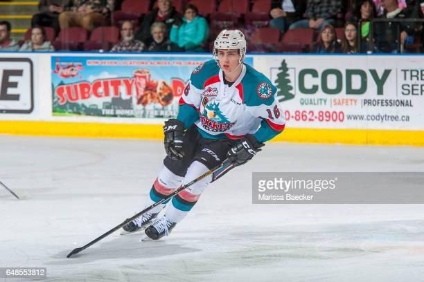 Kole Lind of the Kelowna Rockets skates against the Edmonton Oil Kings on February 22 2017 at Prospera Place in Kelowna British Columbia Canada