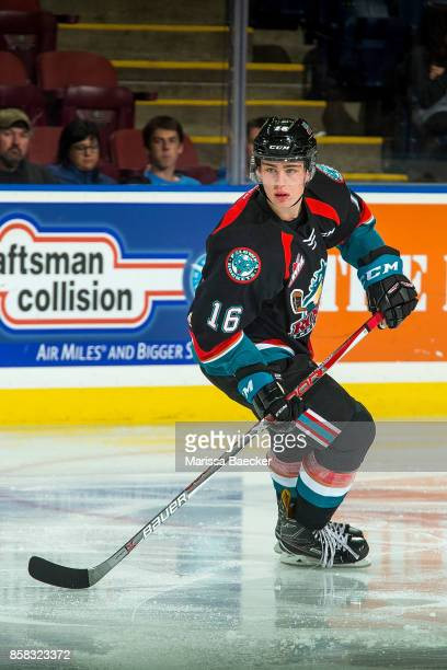 Kole Lind of the Kelowna Rockets skates against the Victoria Royals at Prospera Place on October 4 2017 in Kelowna Canada
