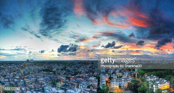 Kolkata at sunset