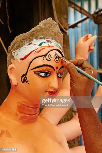 Kolkata, Hindu gods statue for Durga Puja festival