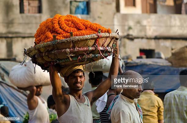 Kolkatas Flowermarket just below HowrahBridge is the largest flowermarket of the world and 24 hours busy 7 days a week