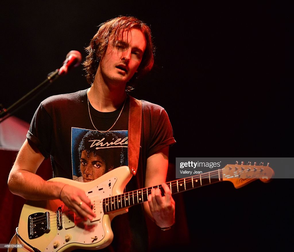 Kollin Johannsen of the Colourist performs at Fillmore Miami Beach on February 8, 2014 in Miami Beach, Florida.