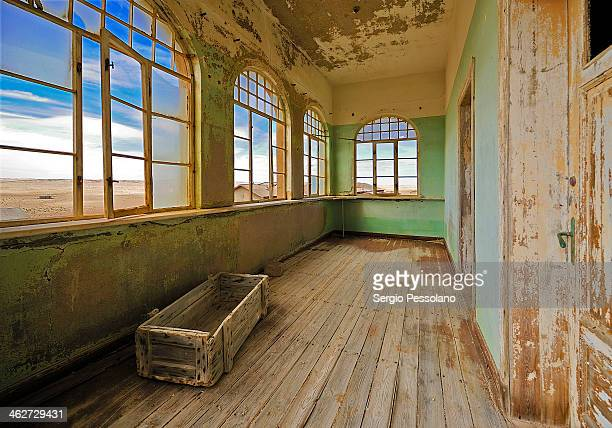 CONTENT] Kolmanskop Namibia Interior of an abandoned building Kolmanskop is a ghost town in the Namib desert in southern Namibia a few kilometres...