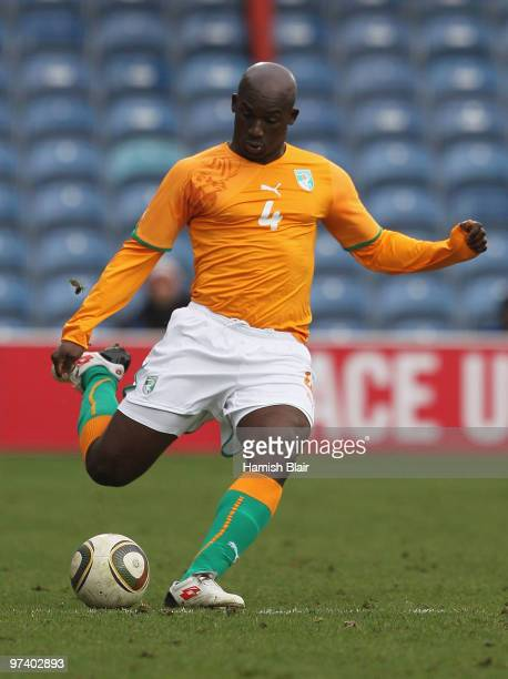 Kolo Abib Toure of Ivory Coast in action during the International Friendly match between Ivory Coast and Republic of Korea played at Loftus Road on...