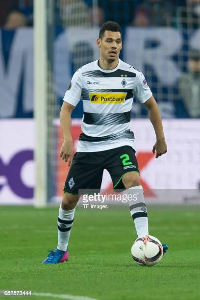 Kolo Timothee Kolodziejczak of Borussia Moenchengladbach controls the ball during the UEFA Europa League Round of 16 first leg match between FC...