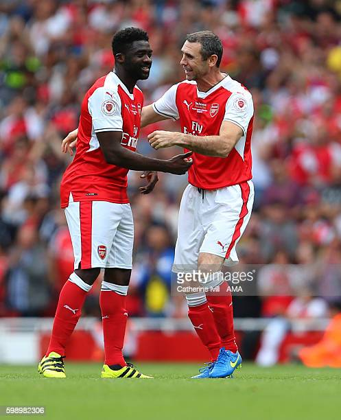 Kolo Toure of Arsenal Legends and Martin Keown of Arsenal Legends during the Arsenal Foundation Charity match between Arsenal Legends and Milan...