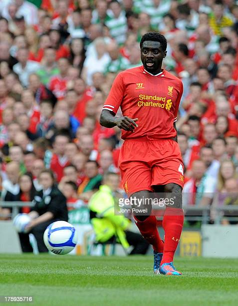 Kolo Toure of Liverpool during a Pre Season friendly against Celtic and Liverpool at Aviva Stadium on August 10 2013 in Dublin Ireland
