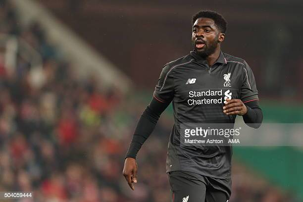 Kolo Toure of Liverpool during the Capital One Cup Semi Final First Leg between Stoke City and Liverpool at Britannia Stadium on January 5 2016 in...